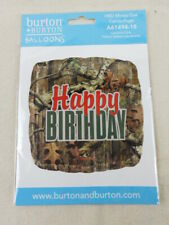 """MOSSY OAK Camouflage Square Happy Birthday Foil Balloon - 18 """" - FREE SHIPPING"""