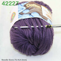 Sale New 1 Skein x 50 gr Soft 100% Cotton Chunky Super Bulky Hand Knitting Yarn