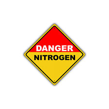 Danger Nitrogen with Hazardous Chemical OSHA Metal Aluminum Sign 12x12