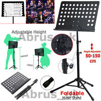 Heavy Duty Foldable Orchestral Music Stand Conductor Sheet Tripod Base Holder
