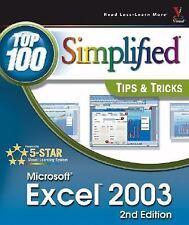 Excel 2003 Top 100 Simplified Tips & Tricks