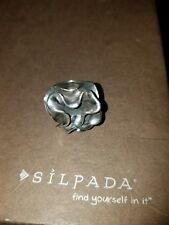 "SILPADA Sterling Silver Oxidized ""FLOWER"" Ring Sz 8 R1809"