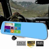 "Car DVR Dash Cam Recorder 5"" Auto Mirror Dash Camera G-Sensor Night VisionHIG$"