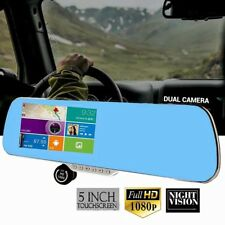 "Car DVR Dash Cam Recorder 5"" Auto Mirror Dash Camera G-Sensor Night Vision JB"