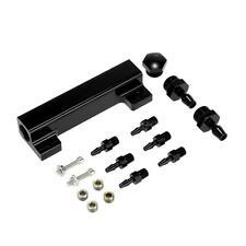 Aluminum Alloy Vacuum Manifold Kits 6 Port 1/8 NPT Turbo Boost Block Black