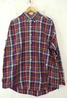 RALPH LAUREN Mens Large Red Blue Green & Yellow Plaid Blake Button Down Shirt