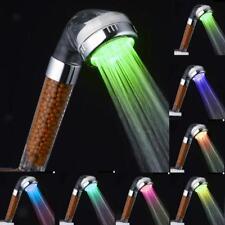 Handheld 7 Changement de couleur LED Pomme de douche Anion ioniseur Bath