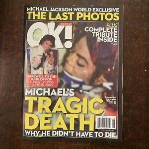 MICHAEL JACKSON THE LAST PHOTOS OK OK! WEEKLY MAGAZINE 2009 NEW