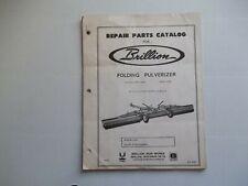 Brillion Folding Pulverizer Model Wp 1081 Wpc 1081 19 To 25 Foot Wide Models Par