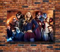 Art The Supergirl Flash Arrow CW DC TV Series USA Heroes Poster - Hot Gift C2999