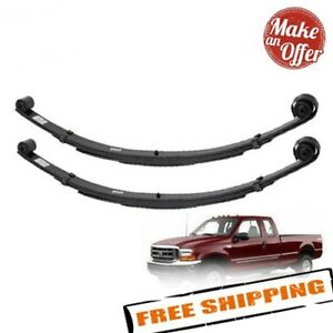 """Pro Comp 22210 Set of Front 2"""" Lifted Leaf Springs 1999-2004 Ford F250 F350 4WD"""