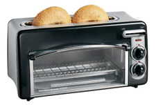Hamilton Beach Toastation 2-Slice Toaster and Mini Oven, Black, 22708, New