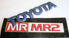 Toyota MR2 MK2 Rear Toyota Boot Lid Badge Azure Blue 8K9 TOYOTA