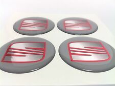 SEAT Autocollant Sticker Centre de Roue Cache Moyeu Jante Silicone 4 x 60mm