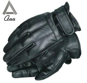POLICE SECURITY TACTICAL SAND FILLED SPECTRA LINING LEATHER GLOVES TOUCH SCREEN