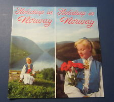 Old Vintage 1954 - Holidays in NORWAY - Travel Booklet / Brochure