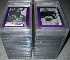 1963 TERROR MONSTER (PURPLE) COMPLETE CARD SET ROSAN  PSA GRADED #1 SET *RARE*