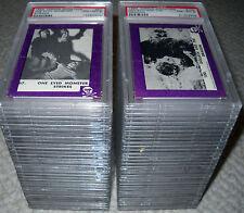 1963 TERROR MONSTER (PURPLE) COMPLETE CARD SET ROSAN  PSA GRADED #1 SET *RARE*