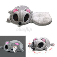 Cartoon Mouse Cat Cave Dog Pet House Cushion Nest Soft Mat Sleeping Bed Grey