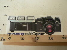STICKER,DECAL OLYMPUS OM 10 QUARTZ CAMERA FOTOTOESTEL LARGE STICKER