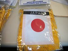 "JAPAN FLAG MINI BANNER 4""x6"""