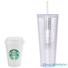 Starbucks 2020 China Silver Grid pattern Studded 24oz Tumbler Straw Cup Llimited