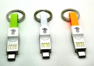 KEYRING/Magnetic charging Micro USB cable Type C Short iPhone & Android.