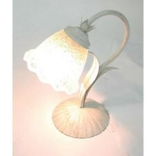 Lamp for bedside table iron and glass