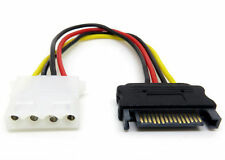 0.15m SATA Male to 4 Pin IDE Molex Power Adapter Cable
