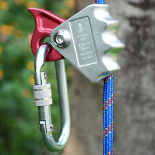 Rope Grab + Locking Carabiner Fall Arrest Protection Rock Climbing Rescue Gear
