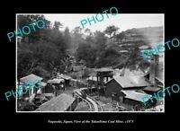 OLD POSTCARD SIZE PHOTO NAGASAKI JAPAN, THE TAKASHIMA COAL MINE c1873