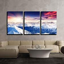 "wall26 - Colorful Sky Austria Europe - Canvas Art Wall Decor - 24""x36""x3 Panels"