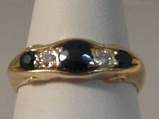 18 Carat Band Sapphire Yellow Gold Fine Rings