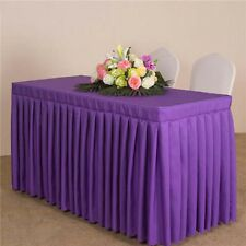 Colorful Rectangular Table Skirting Skirt Table Cloths Wedding Events Party Home
