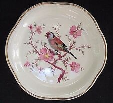 """Royal Worcester SPODE PALISSY Small Plate / coaster Bird on Cherry Branch 4 7/8"""""""