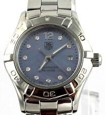 WAF1419.BA0813 Tag Heuer Ladies Aquaracer Swiss Quartz Pearl Diamond  Watch