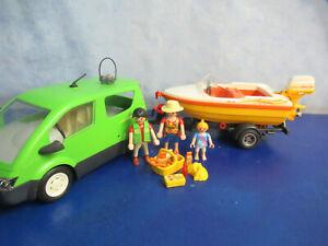 Urlaub 4144 Familien Auto Van + Anhänger Motorboot Figuren Playmobil 5664