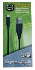 New Scosche Micro-USB Charge & Sync 3 ft Cable for Android Smartphones & Tablets
