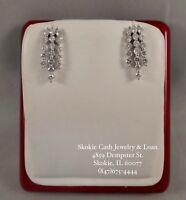14kt White Gold Diamond Earrings (1ct)