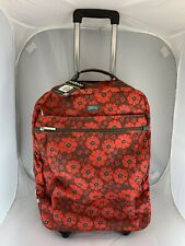 New $199 Hadaki HDK879 Chevron Plane Kalencom Roller Suitcase Bag Carry On