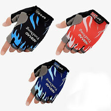 Short Fingerless Cycling Gloves Half Finger Bicycle Motorcycle MTB UK 18-22 Size