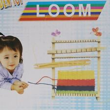 Child Wooden Handloom Developmental Knitting DIY Yarn Weaving Shuttle Loom Toy