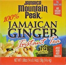Jamaica Mountain Peak Ginger Instant Tea Unsweetened 14 sachets