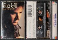 Vince Gill  Pocket Full Gold NEW SEALED 1991 Cassette Tape MCAC-10140 MCA
