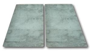 2 x Glas Herd Abdeckplatte Abdeckung Platte für Ceranfeld Induktion Design Beton