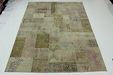 moderne Patchwork Délavé Used Look Tapis de Perse Tapis d'Orient 4,15 x 3,05