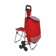 Active Living Tri Wheels Leisure Shopping Trolley with Fold Down Seat