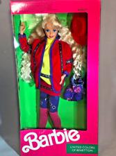 RARE BOXED 1990 Vintage Benetton Barbie Doll. NRFB