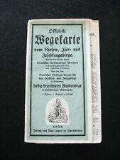 alte Karte Landkarte Wegekarte vom Riesen Iser und Jeschkengebirge von 1926