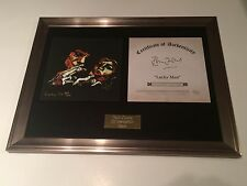 "SIGNED/AUTOGRAPHED RONNIE WOOD - LUCKY MAN FRAMED 7"" PRESENTATION.ROLLING STONES"